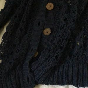 Decree Jackets & Coats - Knitted, navy blue, button down dressy